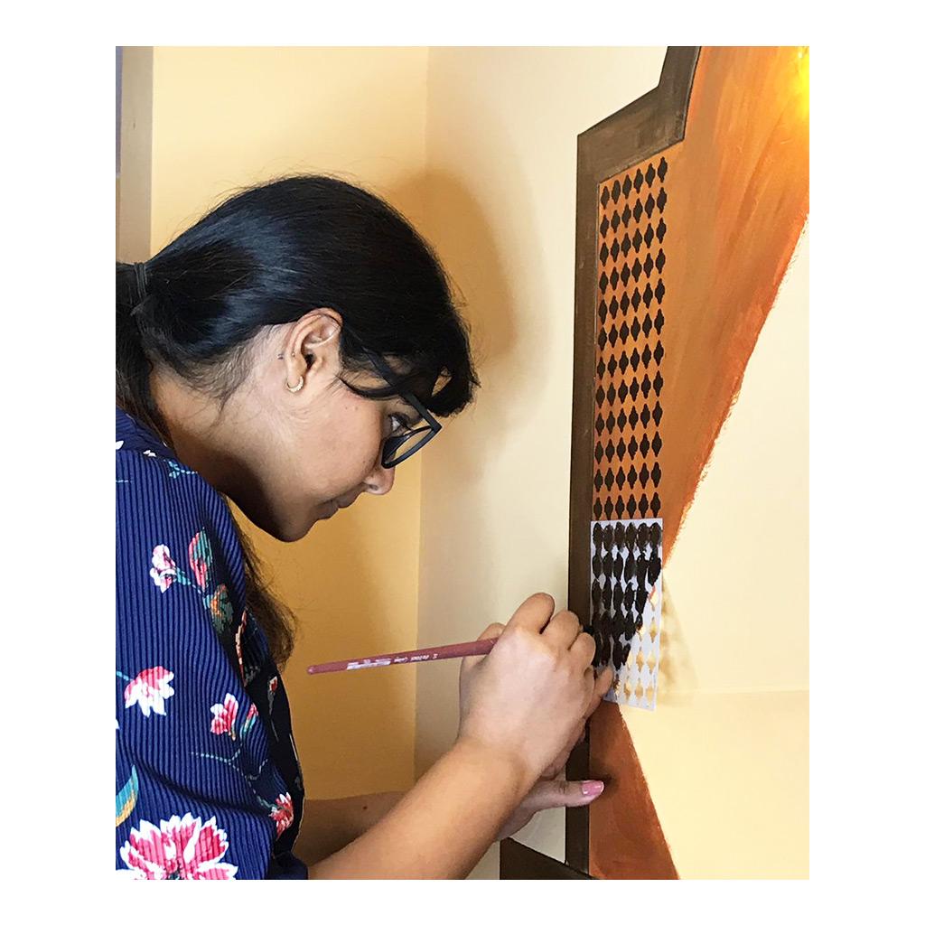 Artist Supriya Agarwal at work